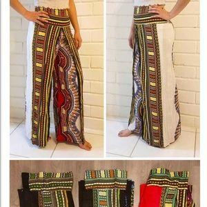 Black Dashiki pants